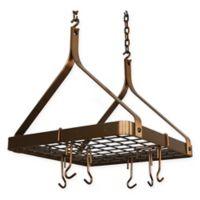 Enclume® Décor Compact Square Copper Hanging Pot Rack