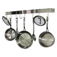 RACK-IT-UP! 36-Inch Utensil Bar Wall-Mount Pot Rack with Hooks in Stainless Steel