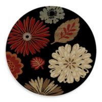 Concord Global Kaleidoscope Black 5-Foot 3-Inch Round Rug