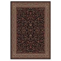 Concord Global Trading Jewel Kashan 5-Foot 3-Inch x 7-Foot 7-Inch Rug in Black