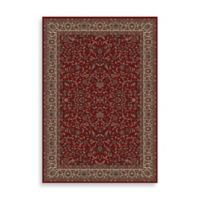 Concord Global Trading Jewel Kashan 5-Foot 3-Inch x 7-Foot 7-Inch Rug in Red