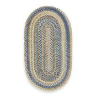 Capel Kill Devil Hill 3-Foot x 5-Foot Oval Indoor Braided Rug - Light Blue