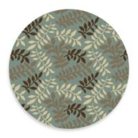 Leafs 7-Foot 10-Inch Round Rug in Blue
