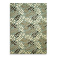 Concord Global Leafs 5-Foot 3-Inch x 7-Foot 3-Inch Rug in Blue