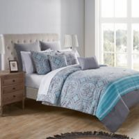 VCNY Home Thalia Reversible Queen Bedding Set in Light Blue