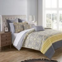 VCNY Home Thalia Reversible Queen Bedding Set in Yellow