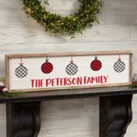 Farmhouse Christmas Personalized 30-Inch x 8-Inch Barnwood Frame Wall Art