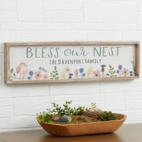 Bless Our Nest Personalized 30-Inch x 8-Inch Barnwood Frame Wall Art