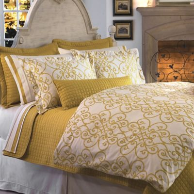 Downtown Company Freccia Reversible Full Queen Duvet Cover Set In Gold