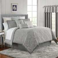 Waterford® Aidan Reversible King Duvet Set in Gunmetal