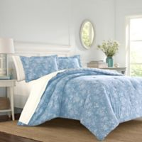 Laura Ashley® Walled Garden Twin Comforter Set in Blue