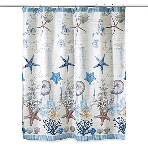 Curtains Ideas bed bath and beyond bathroom curtains : Avanti Antigua 72-Inch x 72-Inch Fabric Shower Curtain - Bed Bath ...