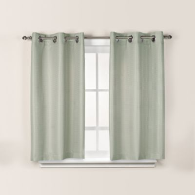 HooklessR Waffle 45 Inch Window Curtain In Sage Green