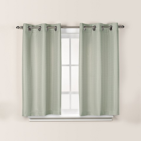 Hookless Waffle 45 Inch Bath Window Curtain In Sage Green Bed Bath Beyond