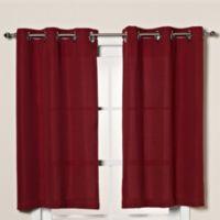 Hookless® Waffle 45-Inch Window Curtain in Moonlight Red