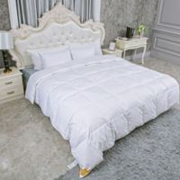 Lightweight White Goose Feather and Goose Down Full/Queen Comforter