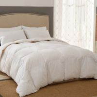 All Season White Goose Down and Down Alternative Gusseted Twin Comforter