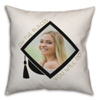"Designs Direct ""Places You Will Go"" Square Throw Pillow in in Black"