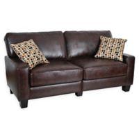Serta® Palisades Sofa in Chestnut Brown