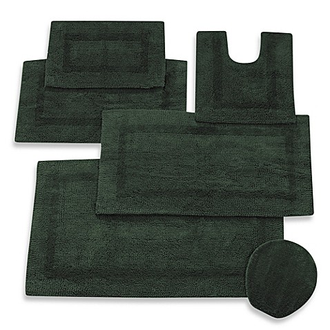 Buy Wamsutta Reversible Contour Bath Rug In Forest From Bed Bath Beyond