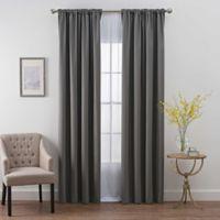 SmartBlock™ 95-Inch Rod Pocket Room Darkening Window Curtain Panel in Charcoal
