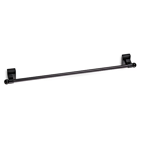 Springs Window Fashions Adjustable 16 Inch To 28 Inch Magnetic Curtain Rod In Bronze Bed Bath