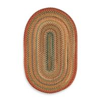 Capel Portland 2-Foot 3-Inch x 4-Foot Oval Indoor Braided Rug - Gold