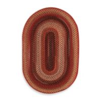 Capel Portland 1-Foot 8-Inch x 2-Foot 6-Inch Oval Indoor Braided Rug - Red