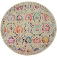 Nourison Vintage Kashan 6' Round Area Rug in Ivory