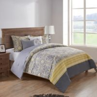 VCNY Home Thalia Reversible King Comforter Set in Yellow