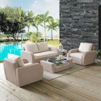 Crosley St. Augustine 5-Piece Resin Wicker Furniture Set with Oatmeal Cushions