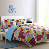 VCNY Home Facey Emoji Reversible Twin/Twin XL Comforter Set