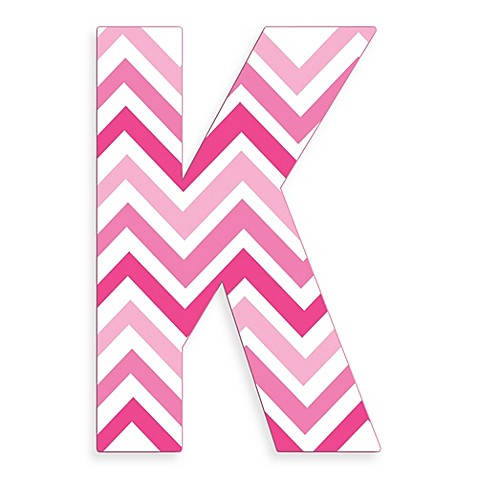 K Letter Images In Pink ... Tri-Pink Chevron 18-Inch Hanging Letter