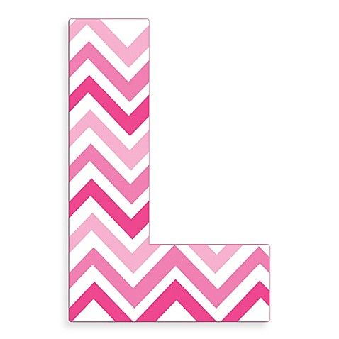 Stupell Industries Tri Pink Chevron 18 Inch Hanging Letter