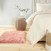 Home Dynamix Aspen Faux Fur 2-Foot 6-Inch x 3-Foot 11-Inch Accent Rug in Dusty Rose
