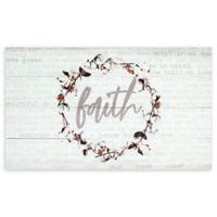 """Faith"" 14-Inch x 24-Inch Wood Wall Art"