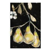 Golden Pears 36-Inch x 24-Inch Glass Wall Art
