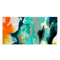 """Empire Art Direct """"Tidal Abstract 2"""" Multicolor Glass Wall Art"""