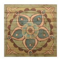Ornamental Tile IV 24-Inch Square Wood Wall