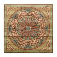 Ornamental Tile I 24-Inch Square Wood Wall