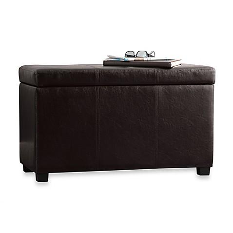 sullivan storage bench with tray top bed bath beyond. Black Bedroom Furniture Sets. Home Design Ideas