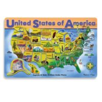 Melissa & Doug® Wood U.S.A. Map Puzzle