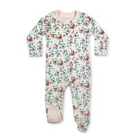 Finn by Finn + Emma® Size 0-3M Bird Floral Organic Cotton Footie in White