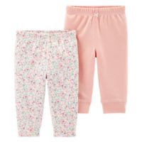 carter's® Newborn 2-Pack Floral Pants in Pink
