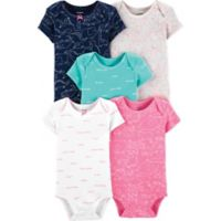 carter's® Newborn 5-Pack Animal Print Bodysuits