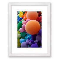 Circles in Square Spaces 15.5-Inch x 20-Inch Framed Wall Art
