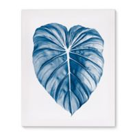 Kavka Designs Egyptian Aztec 16-Inch x 20-Inch Canvas Wall Art in Blue/Ivory