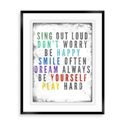 colorful quote a wall decor