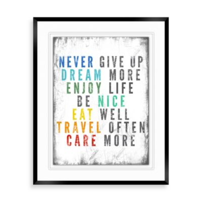 colorful quote b wall dcor