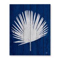Dark Blue Palm 16-Inch x 20-Inch Canvas Wall Art